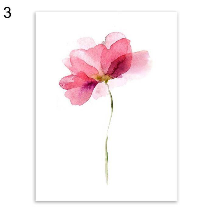 Aquarelle Fleur Toile Peinture Moderne De Salon De Chambre