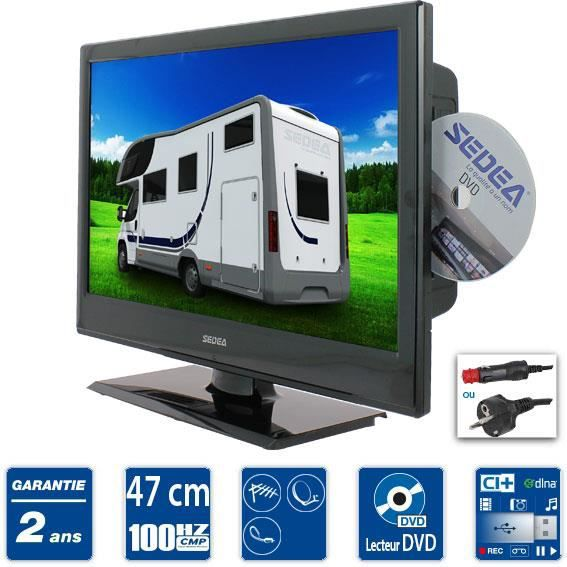 sedea tv camping car combo dvd 47cm t l viseur combin. Black Bedroom Furniture Sets. Home Design Ideas