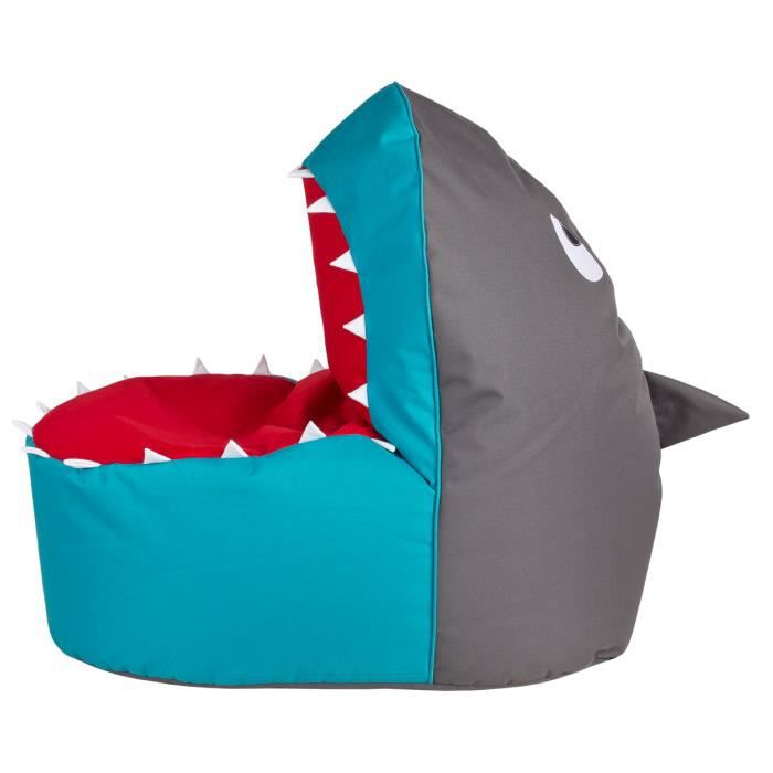 pouf enfant shark achat vente pouf poire cdiscount. Black Bedroom Furniture Sets. Home Design Ideas