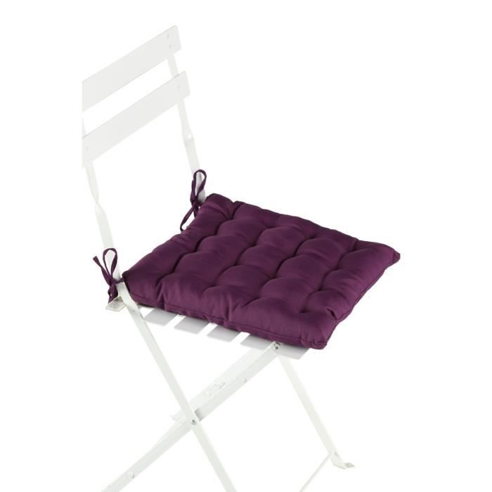 coussin de chaise prune violet achat vente coussin. Black Bedroom Furniture Sets. Home Design Ideas