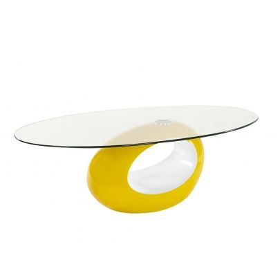 table basse pebble bicolore jaune et blanche achat vente table basse table basse pebble. Black Bedroom Furniture Sets. Home Design Ideas