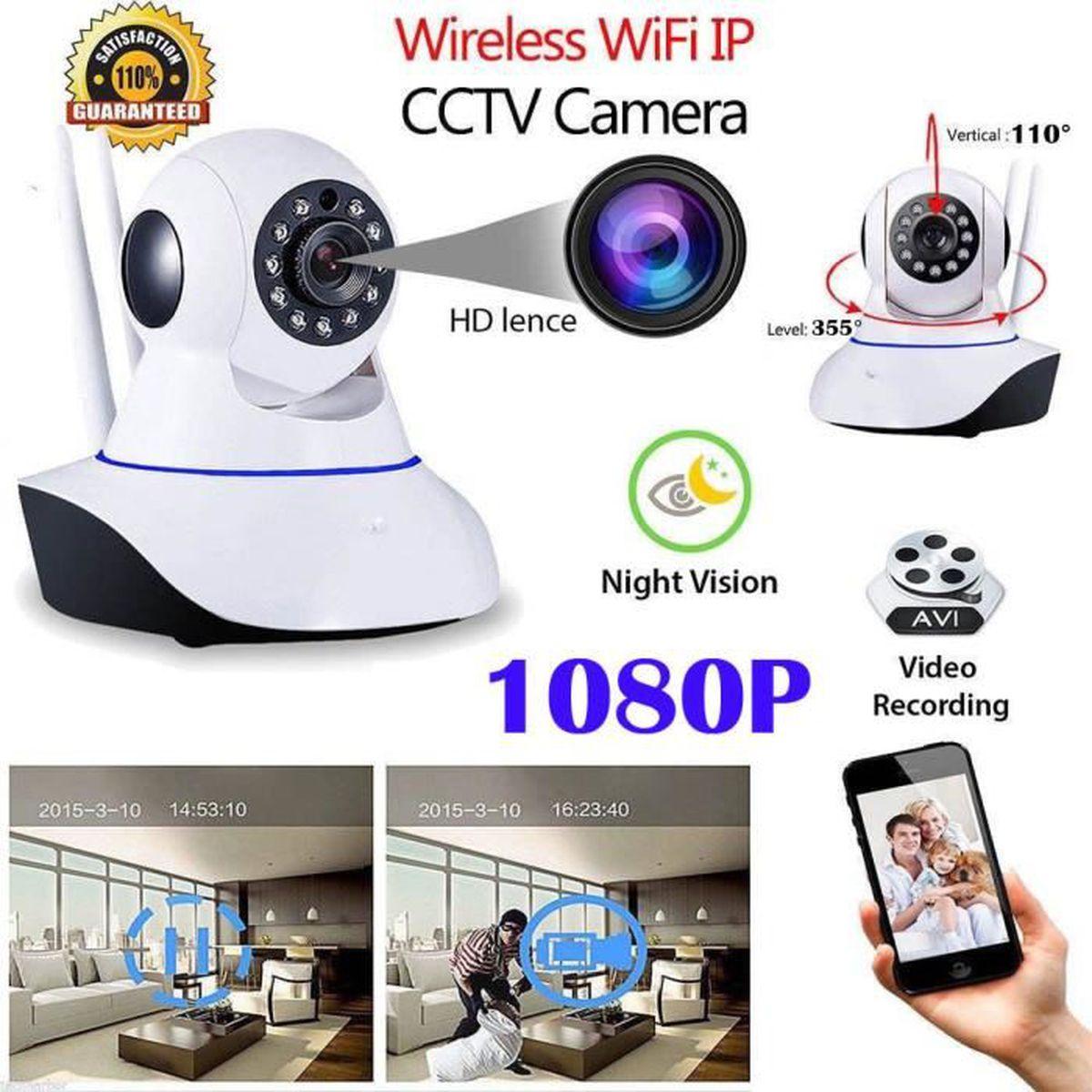 1080P Wifi IP Caméra de Surveillance Sans fil Vision Nuit Sécurité Extérieur