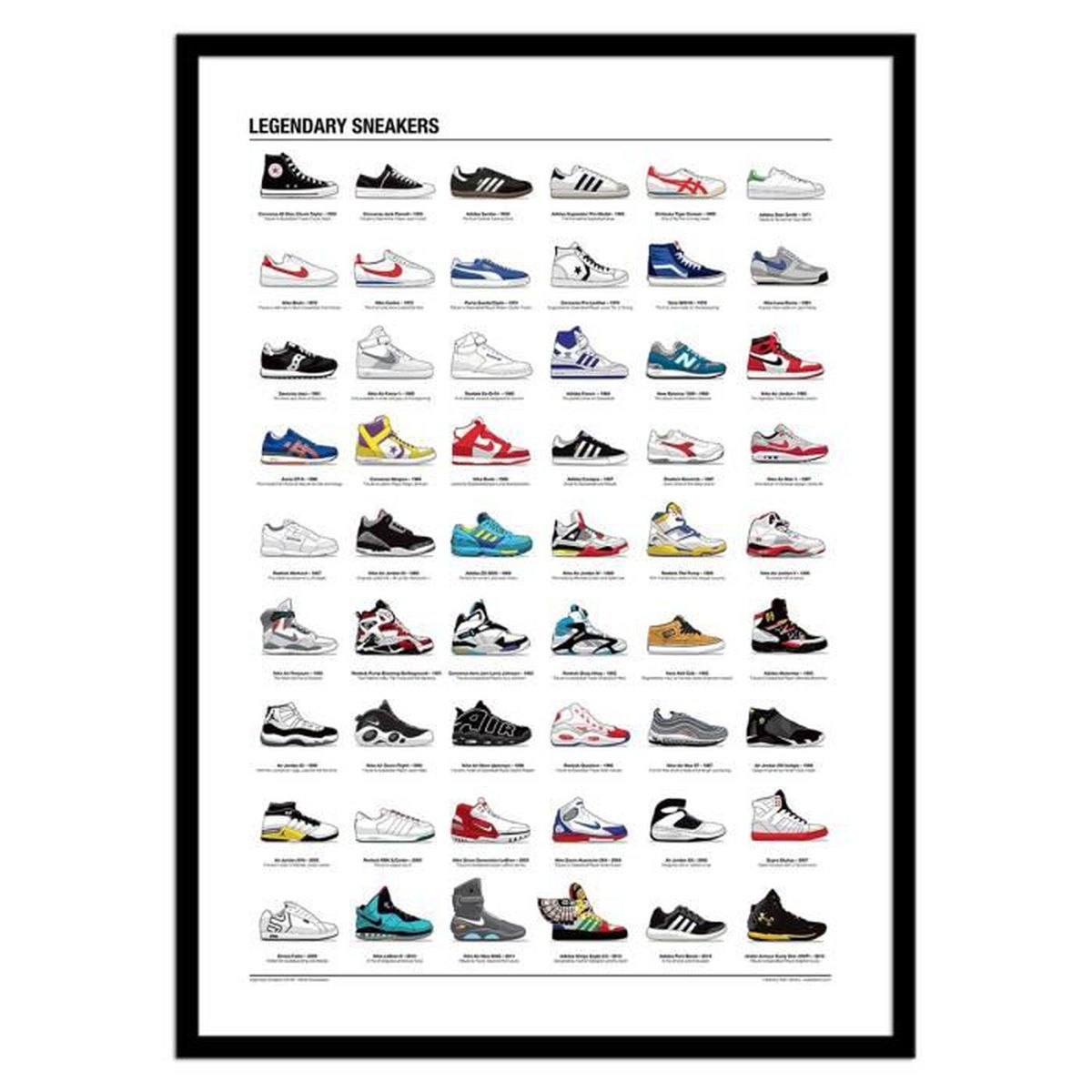Affiche Ancienne Pour Salle De Bain affiche 50 x 70 cm - legendary sneakers - achat / vente