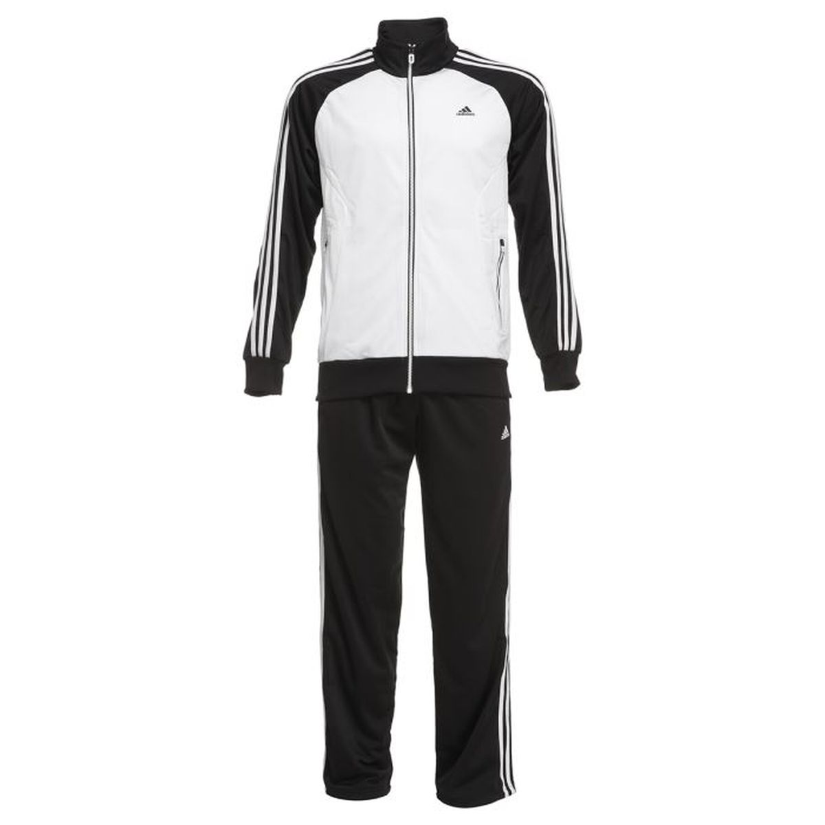 adidas Herren Trainingsanzug Riberio, WhiteBlack, 8, W61607