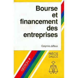 LIVRE ÉCONOMIE  Bourse et financement des entreprises