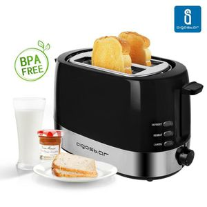 GRILLE-PAIN - TOASTER Aigostar Brotchen Black 30HIL – Grille-pain 0% BPA