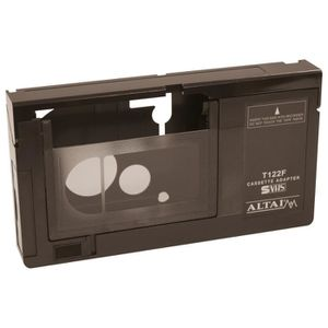 ADAPTATEUR AUDIO-VIDÉO  Adaptateur Noir VHS/VHS-C fonctionnant avec une pi