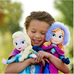 POUPÉE 2 poupées reine des neige elsa et anna 40cm disney