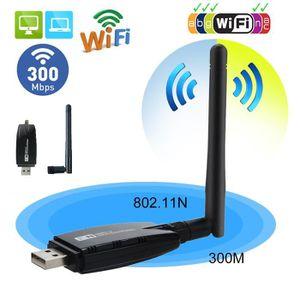 CARTE RÉSEAU  300Mbps Adaptateur WiFi USB Dongle réseau sans fil