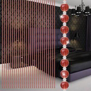 RIDEAU DE PORTE Verre Cristal Perle Rideau Salon Luxe Chambre Fenê