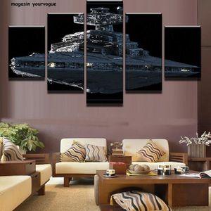 TABLEAU - TOILE 5 pièces Star Wars cuirassé impérial Star Destroye