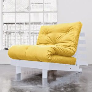 fauteuil convertible koo 90 gris futon amarillo achat vente fauteuil pin massif cdiscount. Black Bedroom Furniture Sets. Home Design Ideas