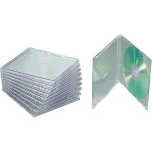RANGEMENT CD-DVD 10 boîtiers CD transparents Conrad