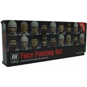 ACCESSOIRE MAQUETTE Vallejo Model Color Set - Faces Painting Set (x8)