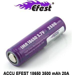 BATTERIE E-CIGARETTE Accu EFEST IMR 18650 Purple «Milka» de 3500mAh et