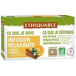 INFUSION ETHIQUABLE - Infusion Relaxante Orange Cannelle bi