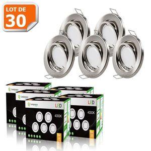 SPOTS - LIGNE DE SPOTS LOT DE 30 SPOT LED ENCASTRABLE COMPLETE ORIENTABLE