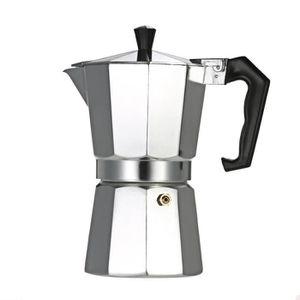 COMBINÉ EXPRESSO CAFETIÈRE Moka de cafetière à Espresso en aluminium de Perco