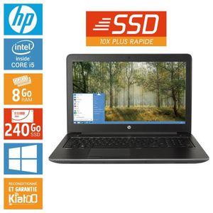ORDINATEUR PORTABLE Pc portable HP ZBOOK 15 core i5 8 go ram 240go ssd