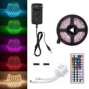 BANDE - RUBAN LED Kit de Ruban LED RGB 2M 5050 SMD 60 LEDS Adapteur