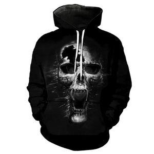 SWEAT-SHIRT DE SPORT Sweat-shirt imprimé tête de morte, super cool pour