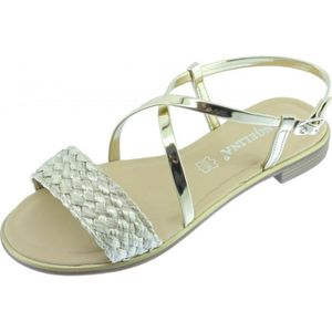 SPARTIATE GETANI - Sandale plate nu-pied chaussure Femme mar