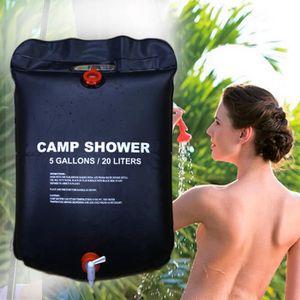 Gocher Sac /à Eau 20L Sac de Douche Solaire portatif ext/érieur Pliable en PVC de 5 gallons Sac de Bain Camping Douche avec thermom/ètre
