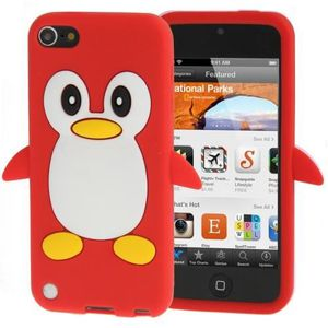 COQUE MP3-MP4 Coque silicone cartoon Pingouin ipod touch 5 rouge