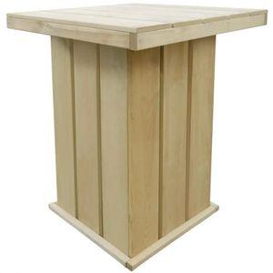 TABOURET DE BAR Table de bar d'extérieur Pin imprégné FSC 75x75x11