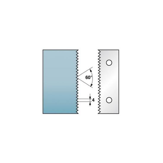 Jeu de 2 contre-fers profil/és Ht Diamwood Platinum Diamwood Platinum 38 x 4 mm doucine A31 pour porte-outils de toupie