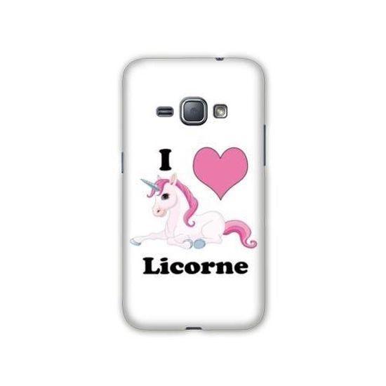 Coque Samsung Galaxy J3 (2016) Licorne taille unique I Love FR B