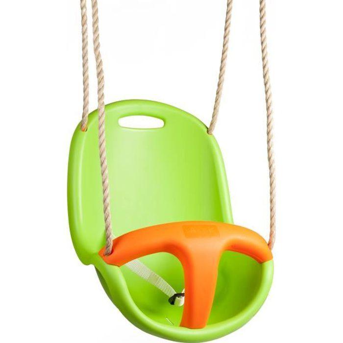 Siège bébé vert et orange BABY'K - pour portique 1,90 à 2,50m - TRIGANO