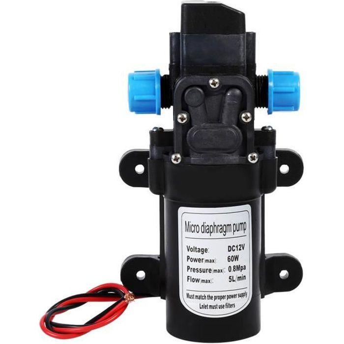 Pompe à eau auto-amorçante à membrane haute pression 12V 115Psi 5L / min 60W vendeur britannique