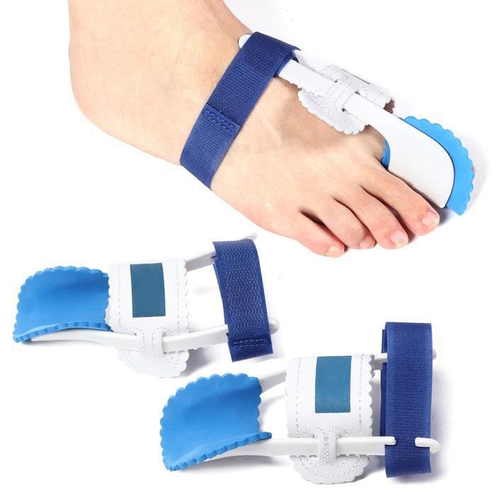 2 pcs Séparateur de lisseur d'orteils Hallux Valgus Correction Bunion Splints pour soins des pieds ♪ SIT