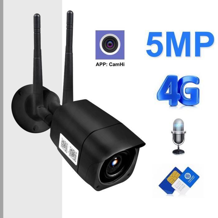 caméra IPextérieure 5MP 1080P HD 3G4G caméra de vidéosurveillance avec carte SIM GSM deux voies Audio 2MP Taille :1080P WIFI Version