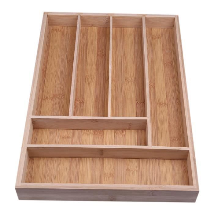 Home Box pratique de rangement pour tiroir en bambou Multifonctionnel, petite boîte à outils en bambou LZM90519001 PANIER A LINGE