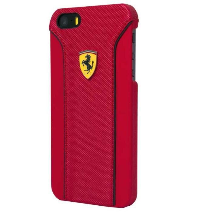 Ferrari Fiorani Coque en PU cuir pour iPhone 6 Plus/6S Plus Rouge