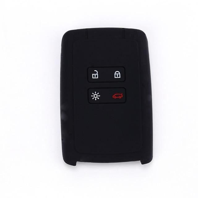 Coque de protection pour clé de voiture en silicone, compatible avec les modèles Renault KOLEOS, Kadja Black