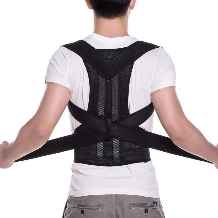 Réglable en néoprène Posture Corrector Back Shoulder Ceinture de maintien lombaire Ceinture pour hommes et femmes de taille moyenne