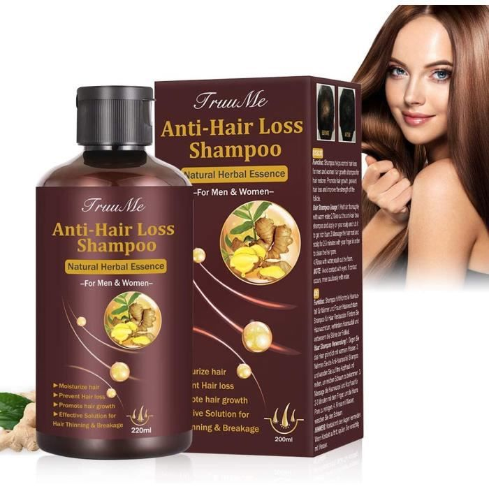 Anti Chute Cheveux, Hair Loss Shampoo, Hair Growth Shampoo, Shampoing Anti Chute, Traitement de Perte de Cheveux Pour Les Hommes et