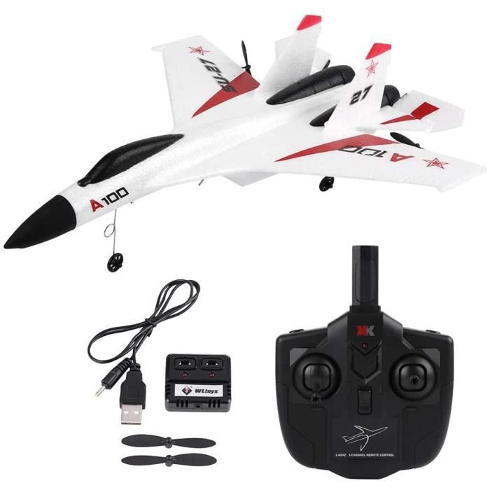 DRONE pour Enfants, WLtoys XK A100-SU27 3 Canaux EPP Planeur T&eacutel&eacutecommand&eacute Avion Avion &agrave Voilure Fix1141