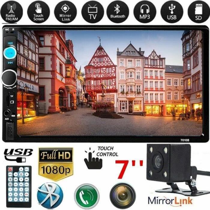 2 Din Auto Radio 7 Pouces Lecteur Mp5 écran De Presse Bluetooth Miroir Multimédia Android Autoradio