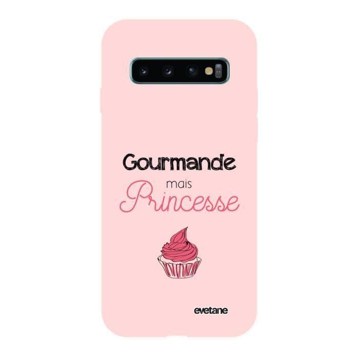 Coque Samsung Galaxy S10 Silicone Liquide Douce rose pâle Gourmande mais princesse Ecriture Tendance et Design Evetane.
