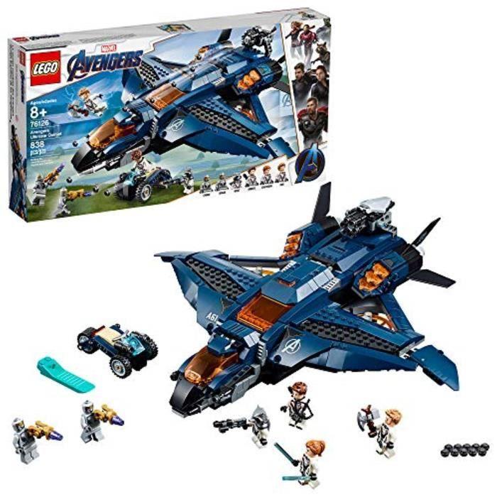 Jeu D'Assemblage LEGO BIV7J Marvel Avengers: Avengers ultime Quinjet 76126 Kit de construction, Nouvelle 2019 (838 Pieces