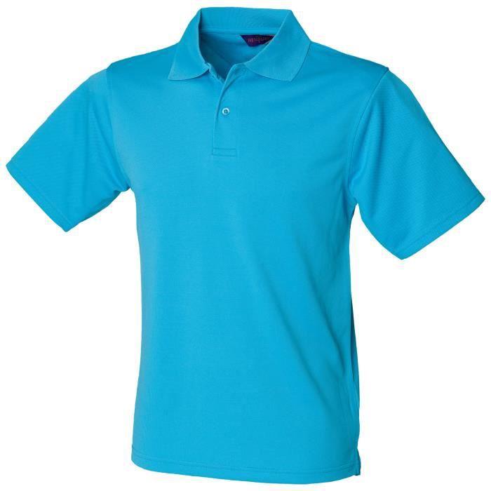 Henbury - Polo à manches courtes - Homme (Turquoise)