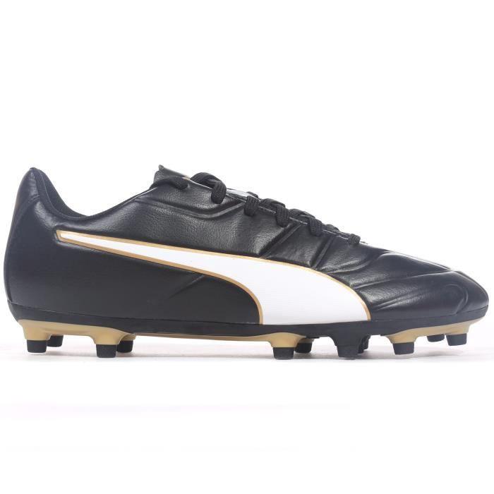 Puma Classico C II FG - Chaussures de football pour hommes - Terrain ferme - Noir / Or