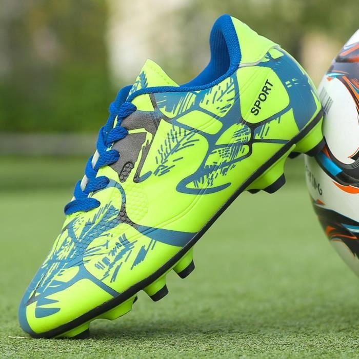 Couple en plein air Chaussures de football non-Slip Les enfants à faible Top Chaussures d'entraînement de football vert