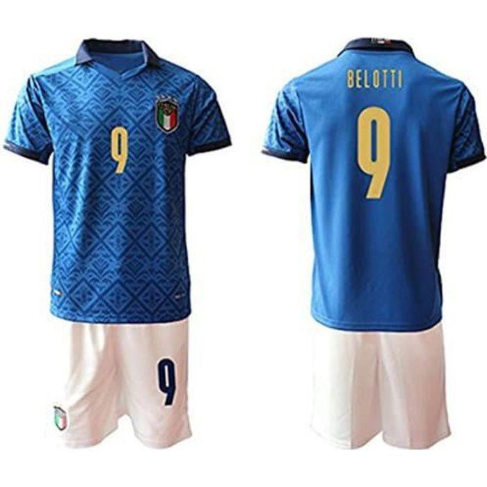 T-shirt Jersey Maillot de Football de la Coupe d'europe 2021 Domicile Italie pour Enfants Maillot Adulte