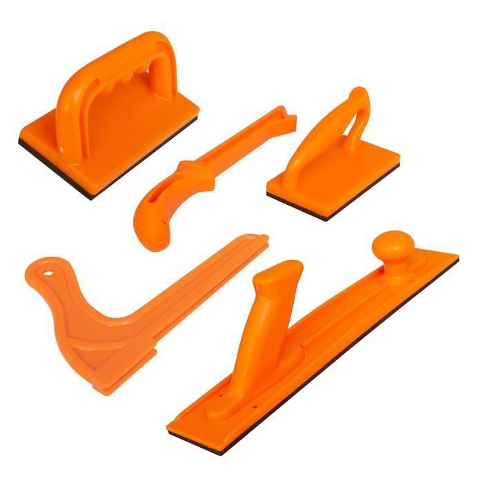 Bloc de poussée bâton de sécurité à haute visibilité avec poignée pour routeur scie à bois Table Table dégauchisseuse 5PCS