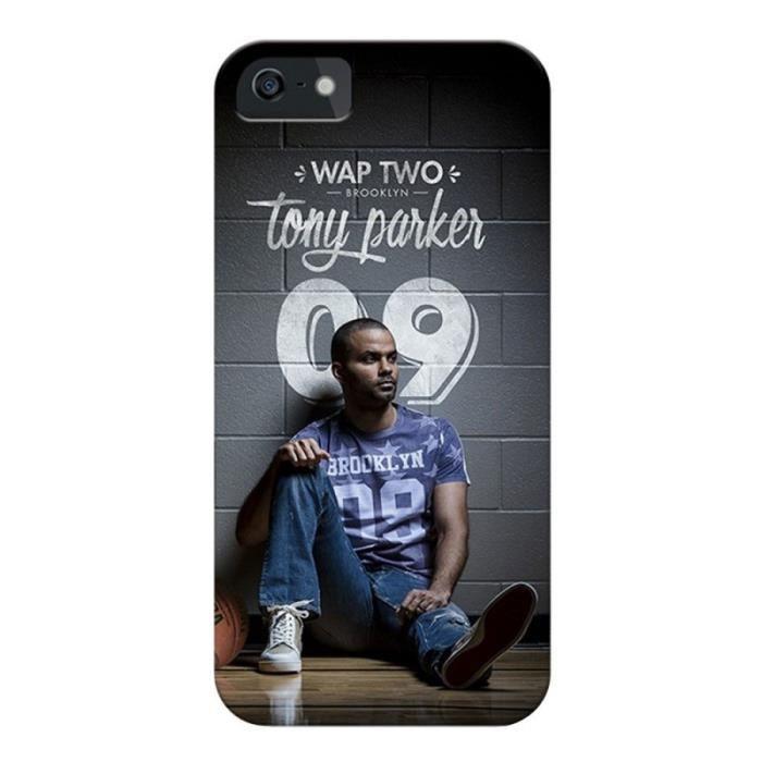 WT Coque de protection Tony Parker pour iPhone 4 et 4S - Rigide - Décor Mur